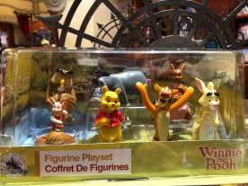 New Figurine playsets are awaiting shoppers on Carthay Circle shelves. These include a selection of Ducktales, Winnie The Pooh, or Lilo and Stitch characters. Disney's Hollywood Studios. Photo by John Capos