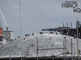 Crews are working to complete the new temple roof as pictured below. Construction activity also continues to finish the surface on a large landscape formation. Hollywood Studios HQ continues to provide weekly updates with close up photos of Star Wars: Galaxy's Edge. Disney's Hollywood Studios. Photo by John Capos