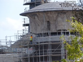 An inadvertently opened gate revealed a spectacular first look at construction work on the Batuu Planet surface level. Crews continue structural work including surface work on the various dome roofs. Stay tuned to Hollywood Studios HQ for the latest construction updates. Star Wars: Galaxy's Edge. Disney's Hollywood Studios. Photo by John Capos