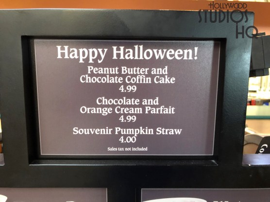 Diners can now select from either a delicious Peanut Butter and Chocolate Coffin Cake or a unique pumpkin decorated Chocolate and Orange Cream Parfait. Both of these tempting delights are awaiting guests at ABC Commissary and at Sunset Ranch Market. Celebrate Halloween with a tasty dessert for $4.99 each. Disney's Hollywood Studios. Photo by John Capos