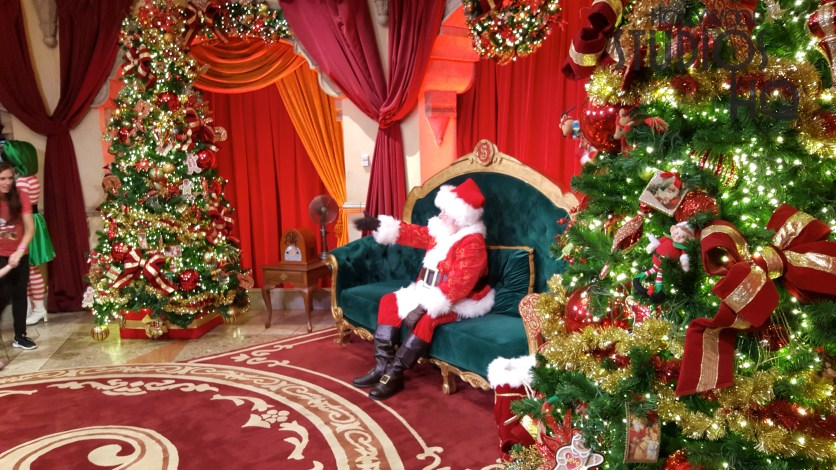 Guests of all ages can visit Santa daily in a festive setting inside Carthay Circle. The jolly character is available for memorable photo ops during normal Park hours through December 24. All the Park's holiday events are covered here at Hollywood Studios HQ. Disney's Hollywood Studios. Photo by John Capos