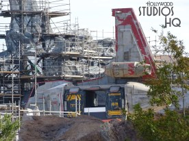 Minimal exterior construction progress was visible this week at the Planet Batuu site. A new metal structure along with wall sheeting has been added. Be sure to stay tuned to Hollywood Studios HQ for weekly construction news. Star Wars: Galaxy's Edge. Disney's Hollywood Studios. Photo by John Capos