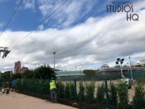 Additional metal work is visible on the Disney Resort bus loading and unloading structure while crews test new exterior lighting. Site activity in preparation for future roadway paving continues. Photos below detail the ongoing planting of foliage. The best news source for this project is Hollywood Studios HQ. Disney's Hollywood Studios. Photo by John Capos