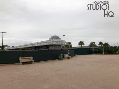 Construction crews have completed and opened to guests expansive new walk ways to and from the park entrance. Guests walking from EPCOT resort areas no longer must detour around the Resort Bus loading areas. The original sidewalk that parallels the water way has been reopened as pictured below. Bus passengers also have a new expansive walking area direct to the park entrance. New restrooms and a vending area are now available. All guest foot traffic converges in a massive landscaped walkway area highlighted with new pole lighting and bench seating directly next to the new Skyliner station. Stay tuned for weekly coverage of all Park construction at Holly Wood Studios HQ. Disney's Hollywood Studios. Photo by John Capos