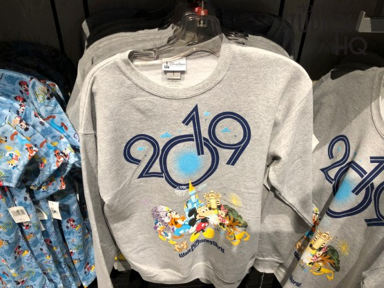 Shoppers can celebrate the soon to arrive 2019 New Year with a variety of Disney themed merchandise on Carthay Circle shelves. Adult and child apparel as well as lovable Mickey Mouse plush await shoppers preparing to ring in 2019. Mugs and cups decorated with Disney characters celebrating the New Year are available, along with a limited selection of toys. Check in regularly with Hollywood Studios HQ for all the Park's New Years events. Disney's Hollywood Studios. Photo by John Capos