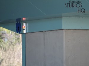 Workers continued Skyliner control work as visible by mounted illuminated signal lights. An actual guest gondola is positioned inside the passenger station. Additional exterior surface work is also pictured below. Hollywood Studios HQ remains the best source for Skyliner news. Disney's Hollywood Studios. Photo by John Capos