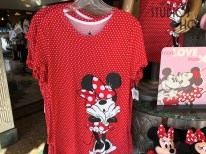 Guests can purchase gifts for their sweetheart inside the Carthay Circle on Sunset Blvd. A red Minnie Mouse themed woman's top along with mouse ears, chocolates, and plush are awaiting shoppers. The latest merchandise updates are always found at Hollywood Studios HQ. Disney's Hollywood Studios. Photo by John Capos
