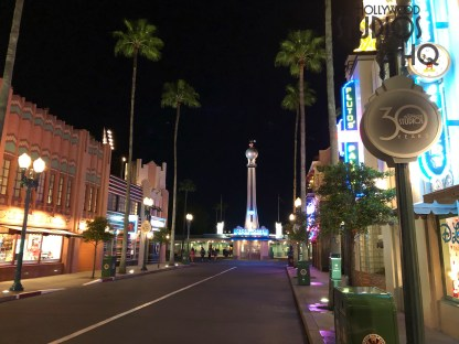 30th year anniversary logos are now arrayed at the Park entrance as well as on Hollywood Blvd. Guest entrance columns and lamp posts display this new celebration design. Stay tuned to Hollywood Studios for all 30th anniversary celebration news. Disney's Hollywood Studios. Photo by John Capos