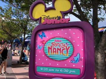 Fancy Nancy Arrives at Disney's Hollywood Studios. Photo by John Capos