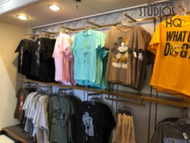 Shoppers at this location will find a selection of Disney themed tee shirts have replaced the store's original mug display. Also the candy merchandise has been removed to make space for a variety of Disney plush and toys. Stay tuned to Hollywood Studios HQ for current merchandise news. Disney's Hollywood Studios. Photo by John Capos