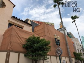 Refurbishment of Mickey's of Hollywood continues as workers have now moved out further the construction walls and erected scaffolding. This retail location is anticipated to re open to shoppers in September 2019. Stay connected to Hollywood Studios HQ for all park construction news. Disney's Hollywood Studios. Photo by John Capos