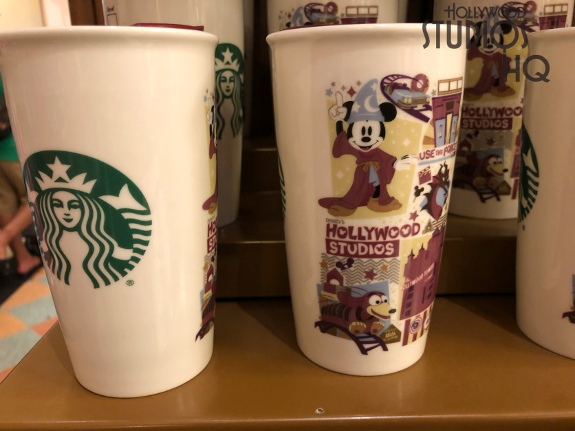 Celebrity 5 & 10 now displays both mens and women tee shirts for purchase on the back merchandise wall. Guests will also find the Hollywood Studios themed Starbucks mug available. Disney's Hollywood Studios. Photo by John Capos