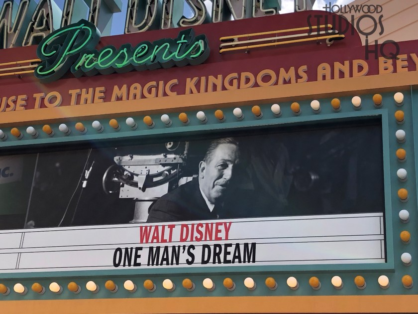 The beloved classic One Man's Dream film has returned once again to the Walt Disney Theatre inside Walt Disney Presents. Guests can enjoy hearing Walt's life story. Disney's Hollywood Studios. Photo by John Capos
