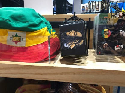 Bob Marley fans will want to stop by the Universal Studios Store in Citywalk for Bob Marley apparel and merchandise. Shoppers can choose from themed adult tee shirts , hoodie, as well as a colorful jersey that commemorate the Jamaican singer, songwriter, and musician. Beverage and coffee mugs in addition to hats, a 1-LOVE license plate, wallet, and button collection are awaiting guests on store shelves. Your best source for all Universal Orlando merchandise news is the one and only Hollywood Studios HQ. Universal Orlando. Photo by John Capos