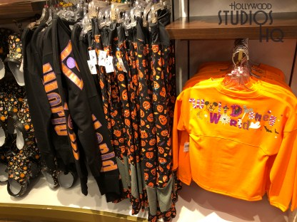 Guests can enjoy an early start on Halloween themed merchandise shopping with a great array on Mickey's of Hollywood shelves. Mickey plush, illuminated lanyards, and an assortment of jack o lantern and decorated bags for trick or treat are available. For home decorations, themed candle holders, mugs, dish towels, as well as a Mickey and Minnie Halloween count down calendar await shoppers. Baby and adult apparel are ready to compliment a variety of colorful witch hat Mickey ears. Stay connected to Hollywood Studios HQ for all Halloween Park updates. Disney's Hollywood Studios. Photo by John Capos