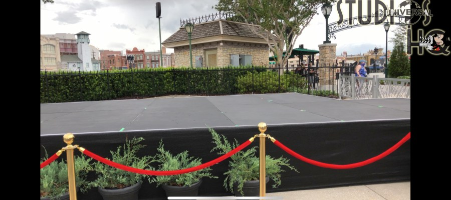 Park workers have installed a new stage next to Central Park for future entertainment. The new large staging platform is located across from Mel's Drive-In. Stay connected to Hollywood Studios HQ for more details! Universal Orlando. Photo by John Capos