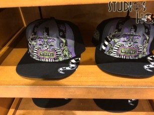 Guests can select from Beetlejuice themed hats, tee shirts, mugs, pins, keychains and even candy, all at 30 % off original prices. Available on store shelves through the Park and City Walk. Subscribe today to Hollywood Studios HQ for the latest guest shopping updates. Universal Orlando. Photo by John Capos