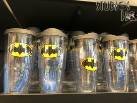 Guests will want to check out the new collection of Batman apparel and accessories that have arrived at the MIB Gear Shop. Colorfully themed adult tee shirts, caps, and women's backpacks are available, as well as drinking cups and drink can holders. The latest Merchandise news scoops are always at Hollywood Studios HQ. Universal Orlando. Photo by John Capos
