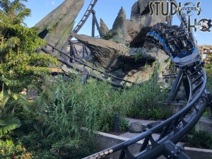 Universal Orlando staff continue with testing of the VelociCoaster attraction which is scheduled to open this summer 2021. The video and photos below reveal this highly anticipated rollercoaster. Stay connected to Hollywood Studios HQ for the latest updates. Universal Orlando. Photo by John Capos
