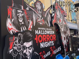 Guests will notice initial preparations by workers in Universal Studios for the upcoming Halloween Horror Nights. Now in its 30th year, special lighting as well as some staging is visible around the park in preparation for this world premier Halloween event. Guests will experience sinister scare zones and terrifying haunted houses, with Jack the Clown returning to lunge from the shadows at visitors when least expected. This special ticketed event is scheduled on select nights beginning September 3 through October 31, 2021, For all the Halloween Horror Nights need to know information, stay connected to Hollywood Studios HQ. Universal Orlando. Photo by John Capos