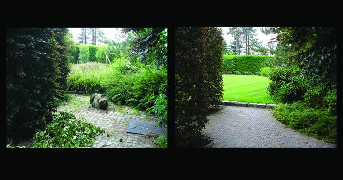 tuinontwerp voor en na