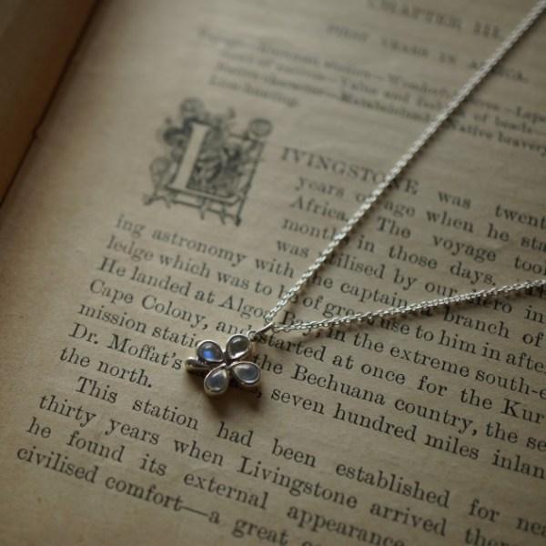Pendant/Silver,Blue-Moonstone
