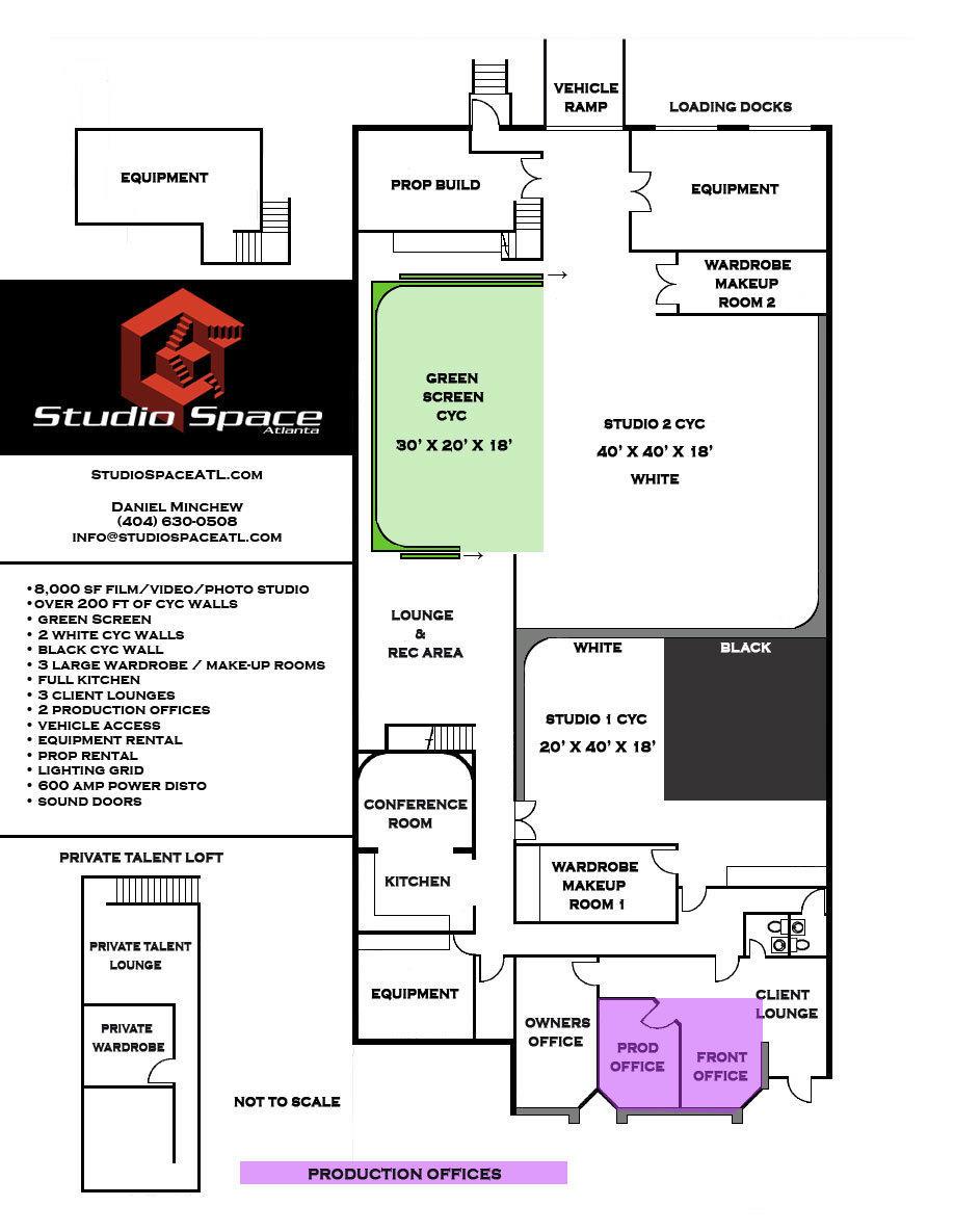 medium resolution of studio space floor plan 2016 production offices
