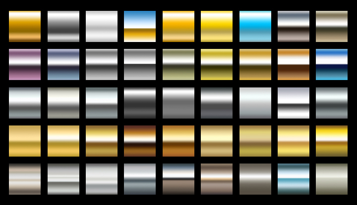 Metal gradients collection for different purposes 45 High