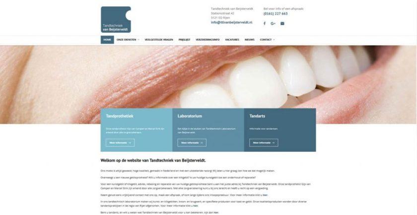 Website Tandtechniek van Beijsterveldt 2017
