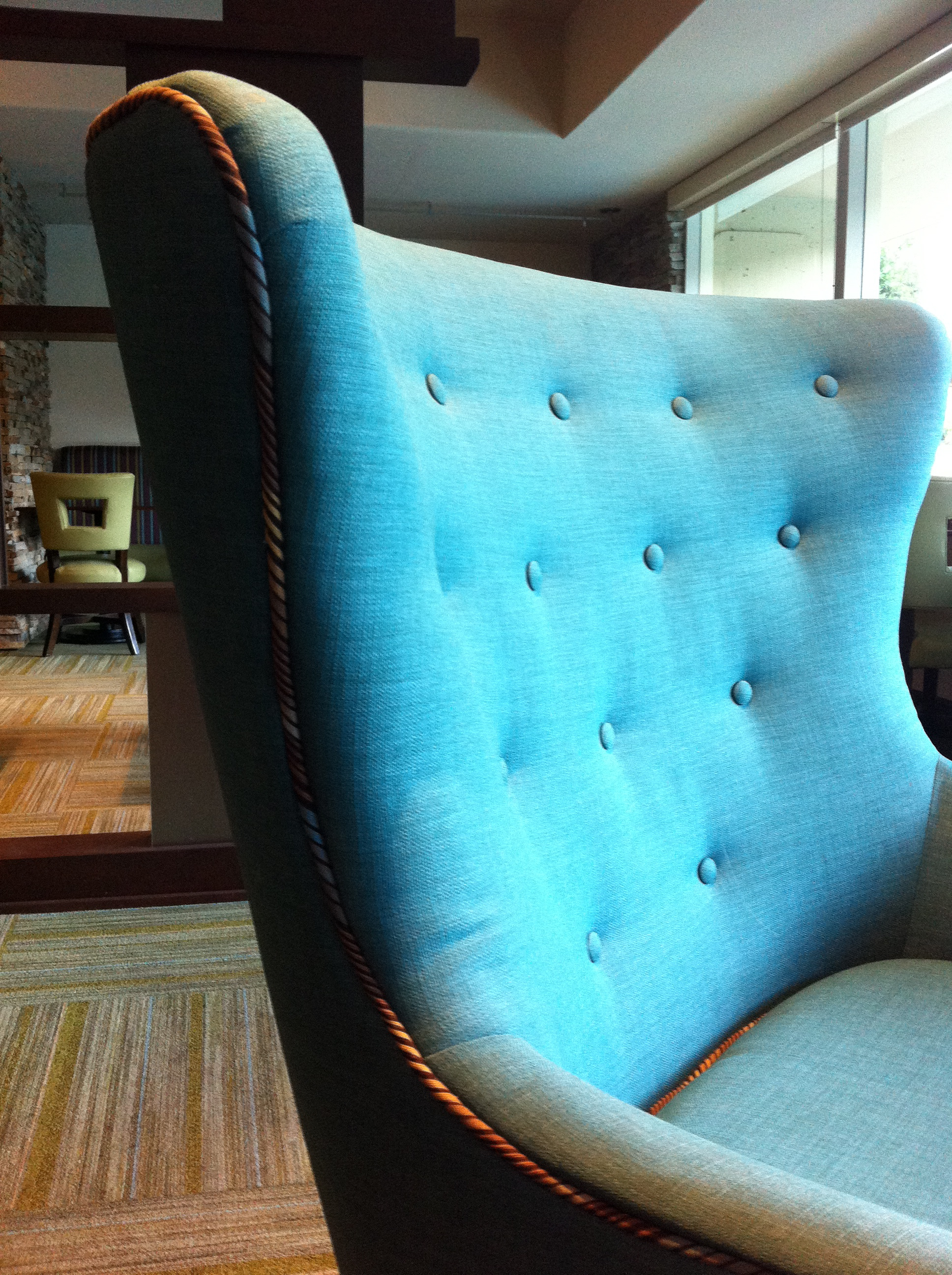 Oversized Wingback Chair Turquoise Wing Back Chair