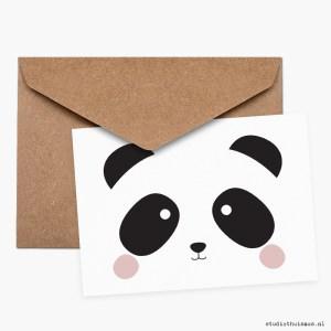 Ansichtkaart-panda-illustratie