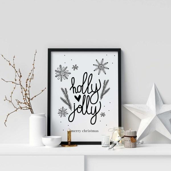 Printable-kerstposter-zwart-wit-quote