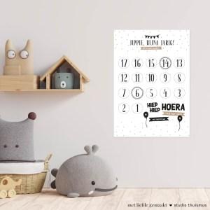 Printable-verjaardags-aftelkalender-zwart-wit
