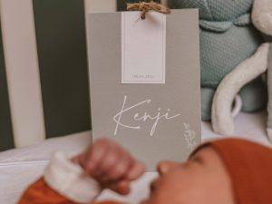 Geboortekaartje-staand-kaartje-tipikaart-tentkaart