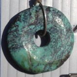 Blue-Green Circle Pendant
