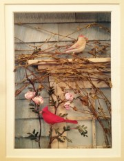 Carol Schmedinghoff, Cardinals, hand carved birds