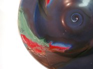 Susan Shaw, Muitlcolored Bowl (section), porcelain