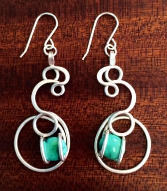 Amber Bettez, Turquoise Tide Pool Drop Earrings