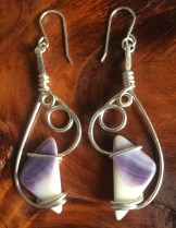 Amber Bettez, Wampum Tide Pool Drop Earrings