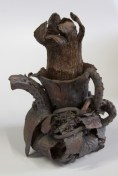 Claudia Hartman, Iron Kettle, Clay Sculpture, 10""