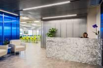 Salary.com's reception area (Boston real estate design and architecture)