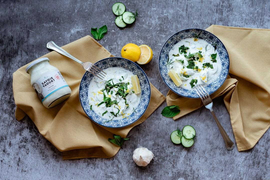Savoie Yaourt Création de recette Tzatziki Menthe, Aneth & Citron