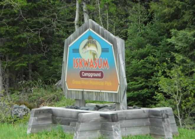Iskwasum campground sign