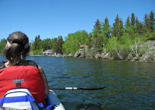 Bakers Narrows paddle along shore