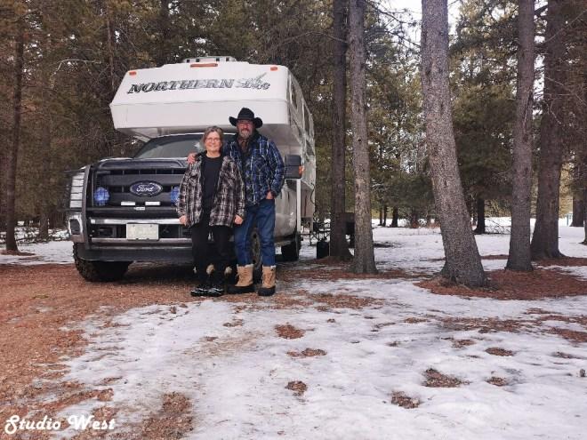 Cypress Hills Provincial Park campsite
