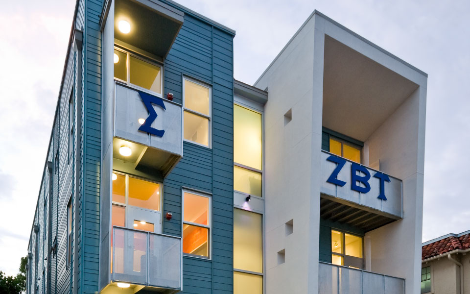Zeta Beta Tau Fraternity House  studioWTA