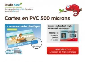 Création de cartes de visite en PVC