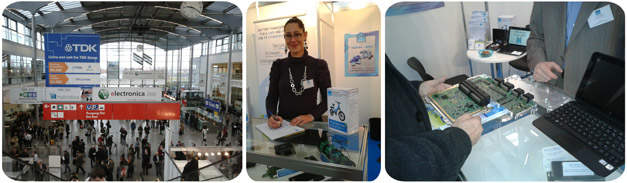 Salon electronica 2012 à Munich avec la société Ventec, spécialiste des BMS (Battery Management System)