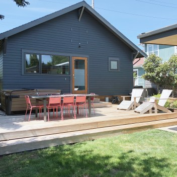 Exterior photo of chezerbey modern remodel in Seattle WA