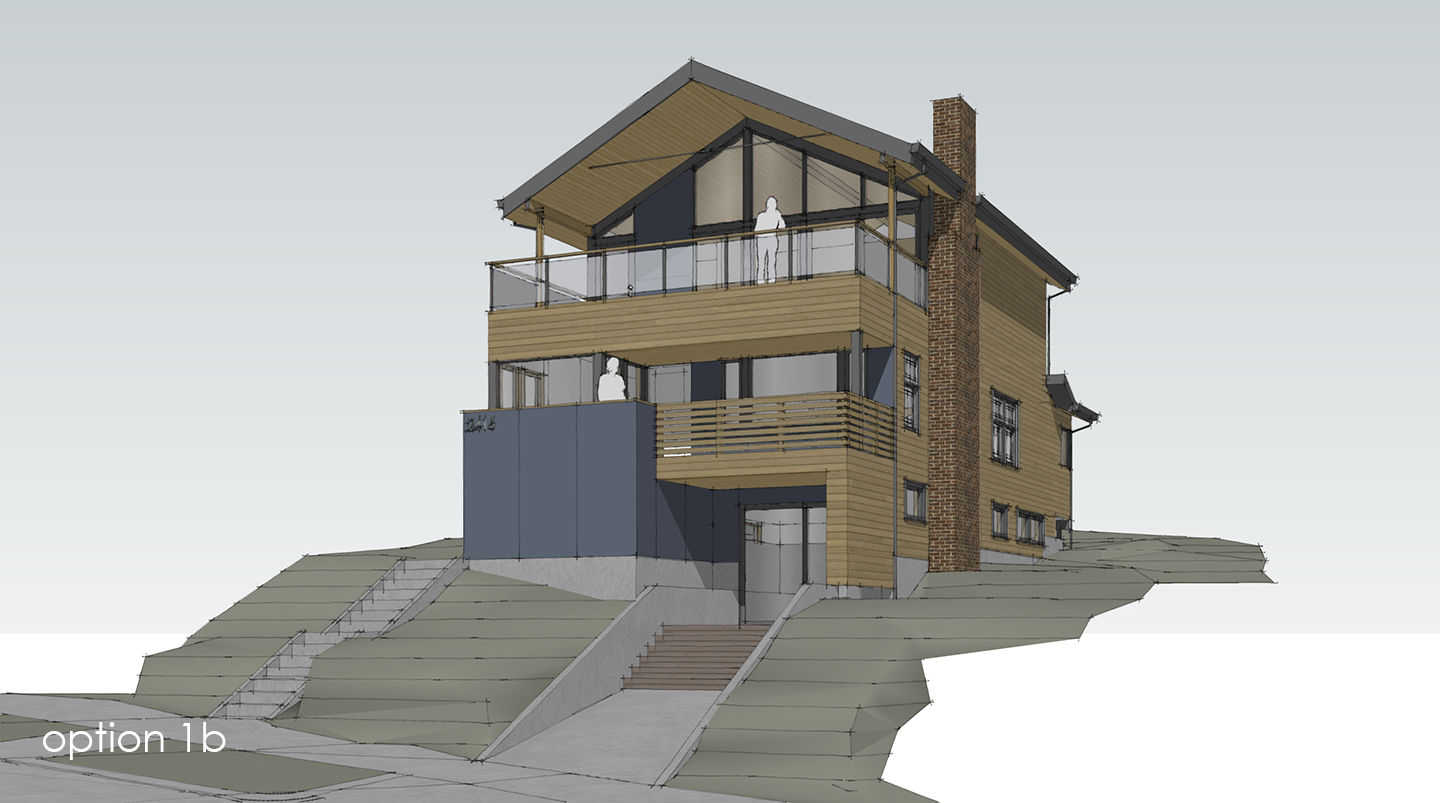 Exterior rendering of a modern remodel in Seattle Washington